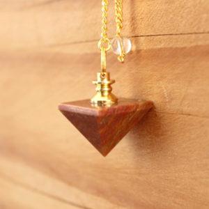 Pendule Jaspe Orange Pyramide