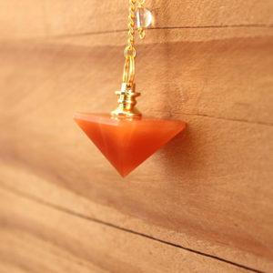 pendule pyramide aventurine orange