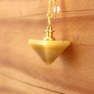 Pendule Pyramide Calcite Jaune