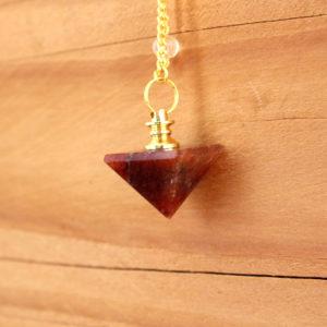 Pendule Pyramide Aventurine Rouge