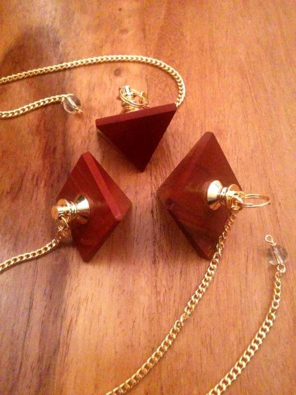 Pendule Pyramide Jaspe Rouge