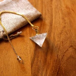 Pendule Cristal de Roche Pyramide