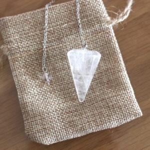 pendule radiesthésie cristal de roche