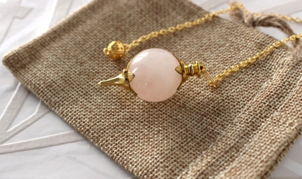 pendule divinatoire quartz rose séphoroton