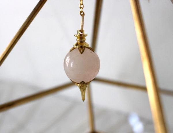 pendule séphoroton quartz rose