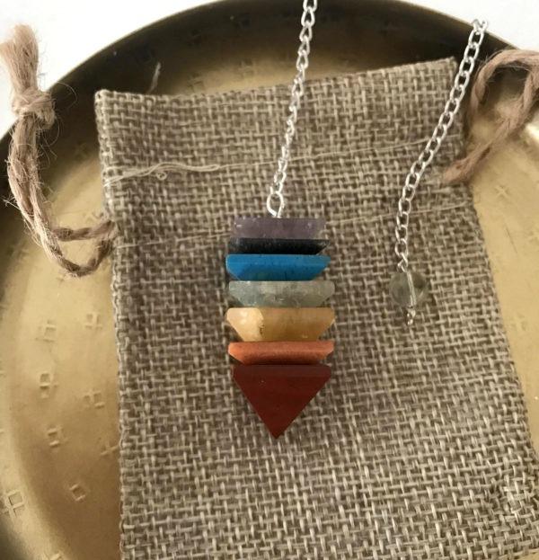 pendule chakras pyramide