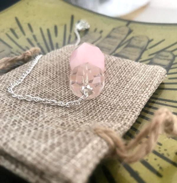 pendule cristal de roche goutte