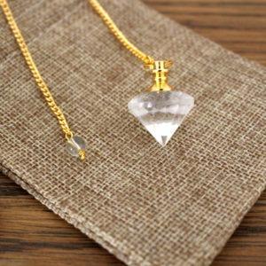 pendule diamant cristal de roche