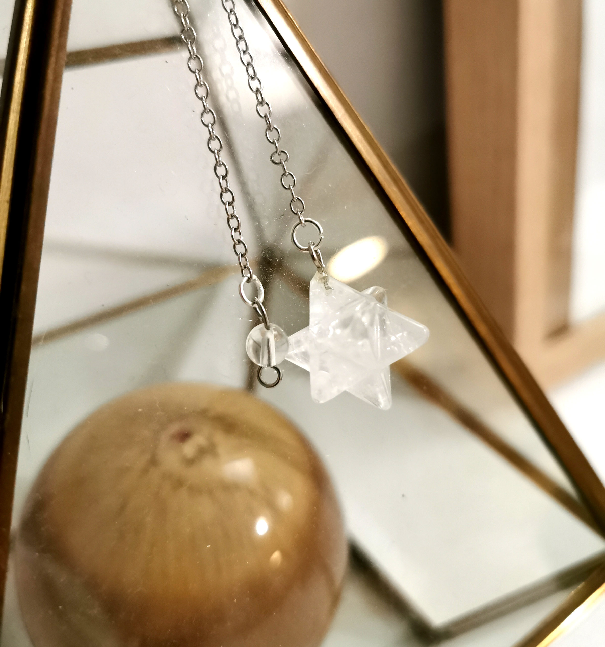 Pendule Cristal De Roche Merkaba Le Monde Du Pendule