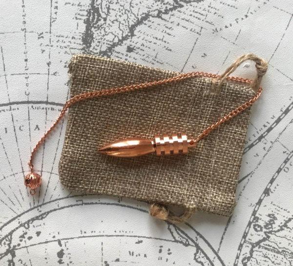pendule divinatoire égyptien métal cuivré