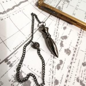 pendule-divinatoire-egyptien-thot-metal-noir