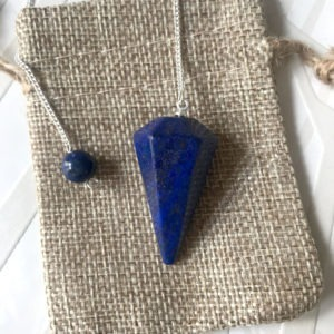 pendule lapis lazuli cône