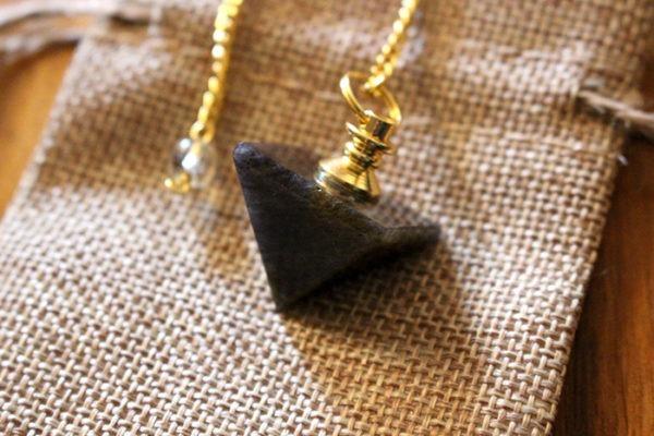pendule divinatoire quartz fumé pyramide