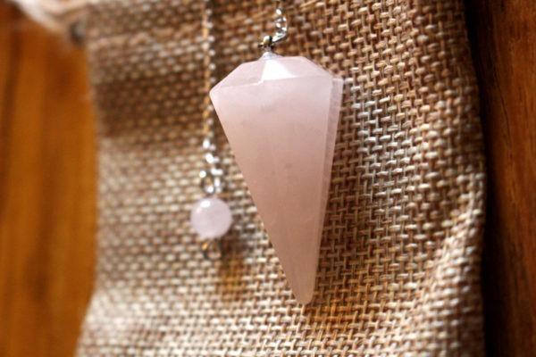 pendule divinatoire quartz rose