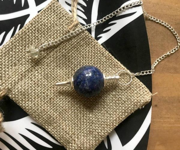 pendule lapis lazuli radiesthésie