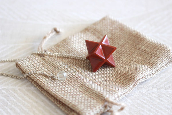 pendule merkaba jaspe rouge