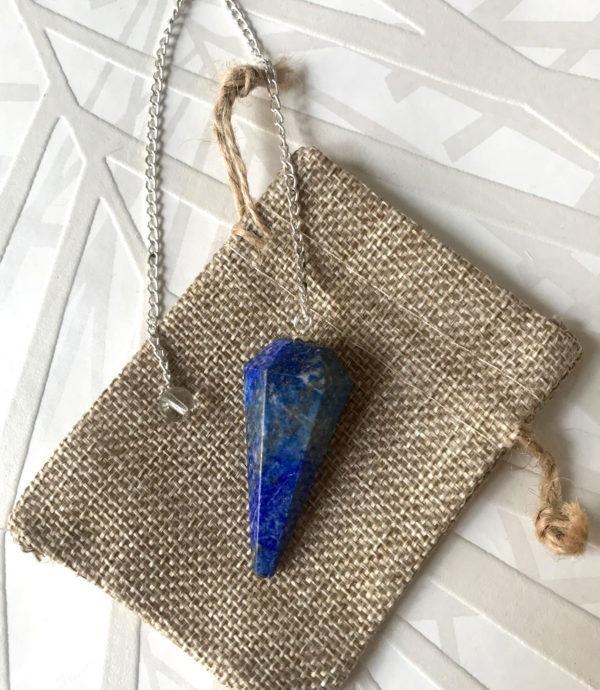 pendule radiesthésie lapis lazuli