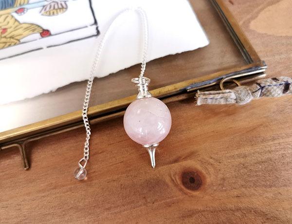 pendule-sephoroton-quartz-rose-radiesthesiependule-sephoroton-quartz-rose-radiesthesie