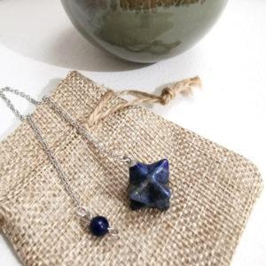 pendule divinatoire lapis lazuli merkaba