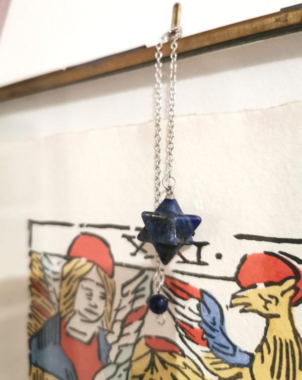 pendule lapis lazuli merkaba