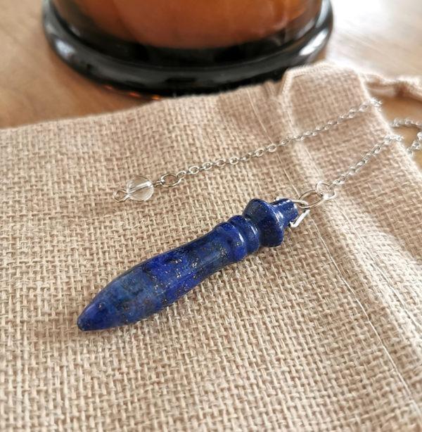 pendule-divinatoire-egyptien-lapis-lazuli-thot