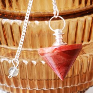 pendule-cone-jaspe-rougependule-cone-jaspe-rouge